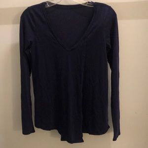 Lululemon purple LS top, sz 4, 72173